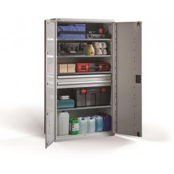 Dulap PROFI 1950/1000/2, pentru scule, 2 sertare, 4 polite, Metalobox