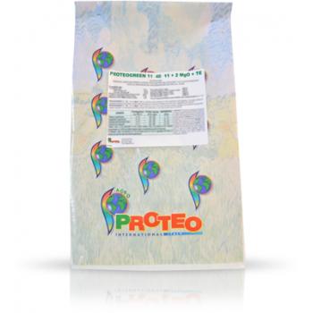 Ingrasamant solubil in apa, cu aplicare foliara si fertirigare, Proteogreen 11-40-11+2 MgO+TE, 25 kg,  Brise Group