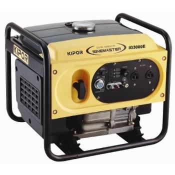 Generator de curent Kipor, digital IG 3000E, monofazic, putere 3.0 kW, benzina, putere motor 4.08 Cp, tensiune 230 V, pornire electrica, sistem de aprindere T.C.I.