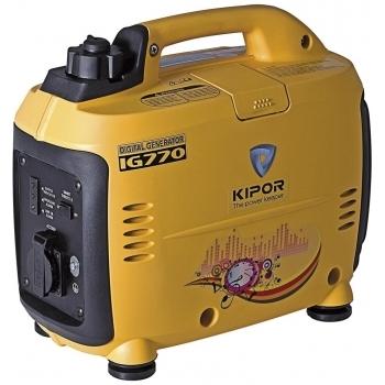 Generator de curent Kipor, digital IG 770, monofazic, putere 0.7 kW, benzina, putere motor 0.95 Cp, tensiune 230 V, pornire manuala, sistem automat de accelerare, sistem de aprindere TCI