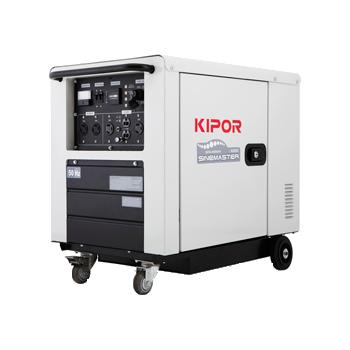 Generator de curent Kipor, digital ID 6000 W/O ATS, monofazic, putere 5.5 kW, diesel, putere motor 7.5 Cp, tensiune 230 V, pornire electrica