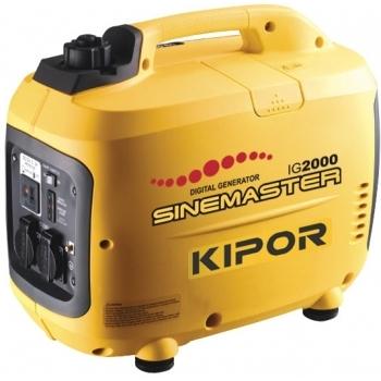 Generator de curent Kipor, digital IG 2000, monofazic, putere 2.0 kW, benzina, putere motor 2.68 Cp, tensiune 230 V, pornire manuala, sistem de aprindere TCI