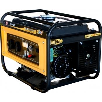 Generator de curent Kipor, KGE 2500 X (uz general), monofazic, putere 2.2 kW, benzina, putere motor 3 Cp, tensiune 230 V, pornire manuala, AVR inclus