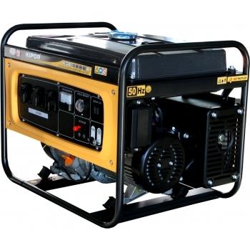 Generator de curent Kipor, KGE 4000 X, monofazic, putere 3.3 kW, benzina, putere motor 4.42 Cp, tensiune 230 V, pornire manuala, uz general