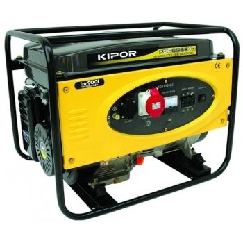 Generator de curent Kipor, KGE 6500 X3, trifazat, putere 6.0 kW, benzina, putere motor 8 Cp, tensiune 400 V, pornire manuala, uz general