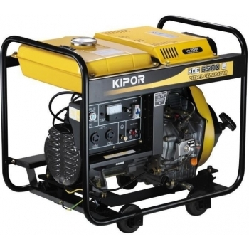 Generator de curent Kipor, KDE 6500 X3, trifazat, putere 6.0 kW, diesel, putere motor 8.16 Cp, tensiune 400 V, pornire manuala, uz general