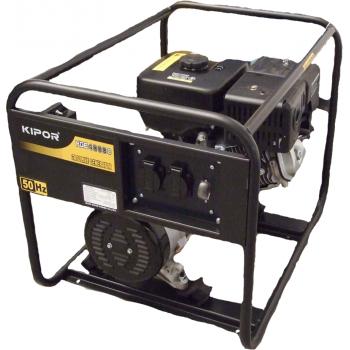 Generator de curent Kipor, KGE 4000 C, monofazic, putere 3.3 kW, benzina, putere motor 2.3, tensiune 230 V, pornire manuala, uz general