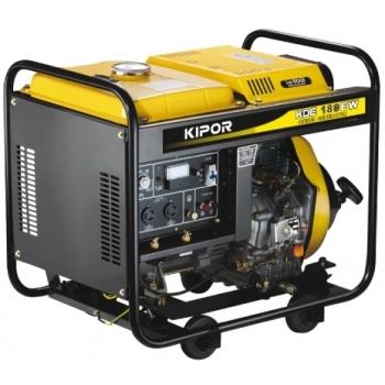 Generator de curent si pentru sudura Kipor, KDE 180 EW, monofazic, putere 2.8 kW, diesel, putere motor 3.5 Cp, tensiune 230 V, pornire electrica