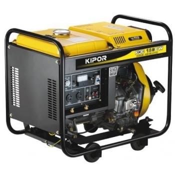 Generator de curent si pentru sudura Kipor, KDE 180 XW, monofazic, putere 2.8 kW, diesel, putere motor 3.81 Cp, tensiune 230 V, pornire manuala