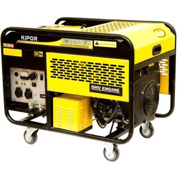 Generator de curent si pentru sudura Kipor, KDE 280 EW, monofazic, putere 5.0 kW, diesel, putere motor 6.8 Cp, tensiune 230 V, pornire electrica