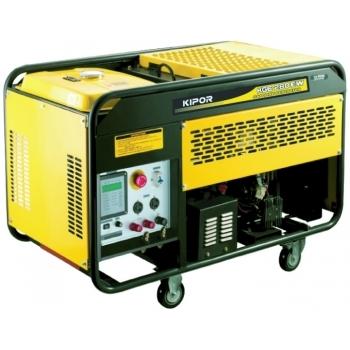 Generator de curent si pentru sudura Kipor, KGE 280 EW, monofazic, putere 5.0 kW, benzina, putere motor 6.8 Cp, tensiune 230 V, pornire electrica