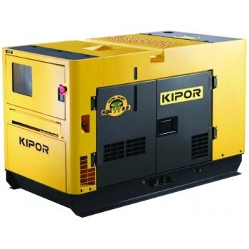 Generator de curent Kipor, KDE 11 SS, insonorizat, monofazic, putere 9.5 kW, diesel, putere motor 13 Cp, tensiune 230 V, pornire electrica