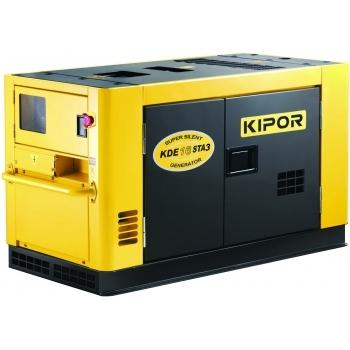 Generator de curent Kipor, KDE 16 STA3, insonorizat, trifazat, putere 15.0 kW, diesel, putere motor 20.39 Cp, tensiune 230 V / 400 V, pornire electrica