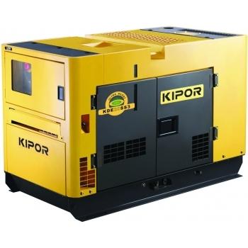 Generator de curent Kipor, KDE 20 SS3, insonorizat, trifazat, putere 18.5 kW, diesel, putere motor 25 Cp, tensiune 400 V, pornire electrica