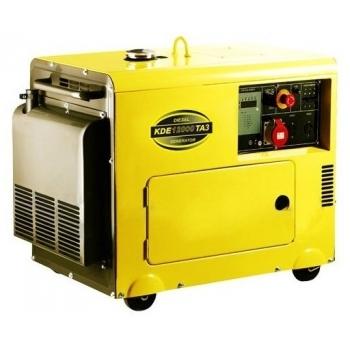 Generator de curent Kipor, KDE 12000 TA, insonorizat, monofazic, putere 9.5 kW, diesel, putere motor 13 Cp, tensiune 230 V, pornire electrica