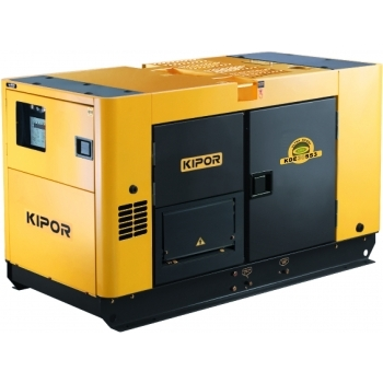 Generator de curent Kipor, KDE 30 SS3, insonorizat, trifazat, putere 26.0 kW, diesel, putere motor 35.5 Cp, tensiune 400 V, pornire electrica