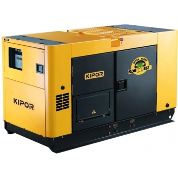 Generator de curent Kipor, KDE 60 SS3, insonorizat, trifazat, putere 54.0 kW, diesel, putere motor 74 Cp, tensiune 400 V, pornire electrica