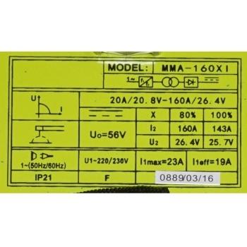 Invertor sudare MMA-160XI, 20-160 A, Proweld #3