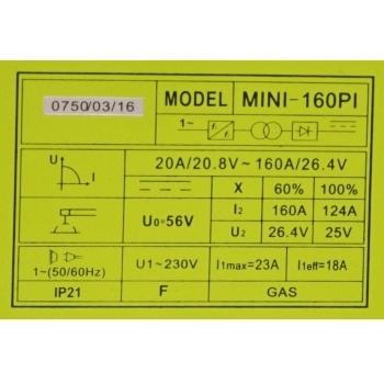 Invertor sudare MINI 160PI, 20-160 A, Proweld #2