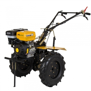 Motosapa ProGarden HS 1100D cu roti, benzina, putere 13 Cp, latime de lucru 50 - 110 cm, pornire la sfoara, 2 viteze inainte + 1 inapoi