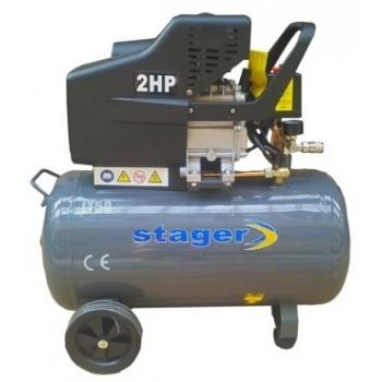 Compresor aer HM2050B, 1500W, 8 bar, 50 L, Stager
