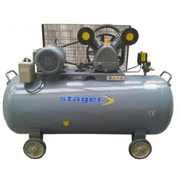 Compresor aer HM-V-0.6/200, 4100 W, 8 bar, 200 L, Stager