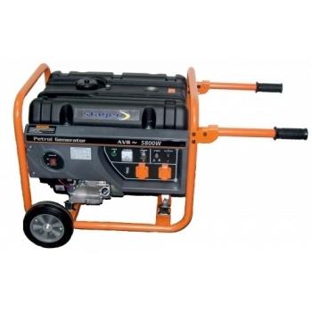 Generator de curent Stager, Open Frame GG7300W, monofazic, putere 6.3 kW, benzina, putere motor 8.5 Cp, tensiune 230 V, pornire manuala