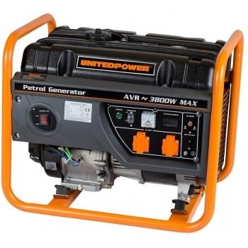 Generator de curent Stager, Open Frame GG4600, monofazic, putere 3.8 kW, benzina, putere motor 5 Cp, tensiune 230 V, pornire manuala