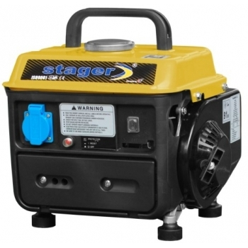 Generator de curent Stager, Open Frame GG950DC, monofazic, putere 0.72 kW, benzina, putere motor 0.98 Cp, tensiune 230 V, pornire manuala