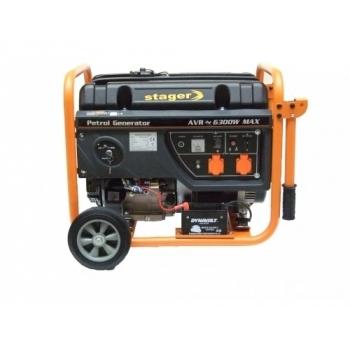 Generator de curent Stager, Open Frame GG7300EW, monofazic, putere 3.0 kW, benzina, putere motor 8.5 Cp, tensiune 230 V, pornire electrica