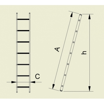 Scara simpla 7109, 1x9 trepte, Alverosal #3