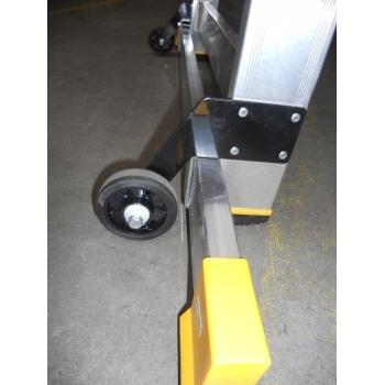 Platforma mica cu trepte pe o parte 9504, cu roti, 1x4 trepte, Alverosal #3