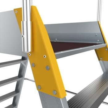 Platforma mica forte cu trepte pe ambele parti 9707, 2x7 trepte, Alverosal #3