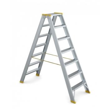 Scara dubla forte cu trepte pe ambele parti 9407, 2x7 trepte, Alverosal