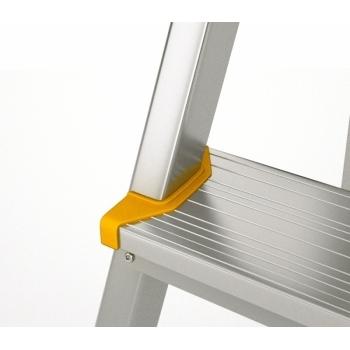 Scara dubla din aluminiu cu urcare pe un tronson 918, 1x8 trepte, Alverosal #2