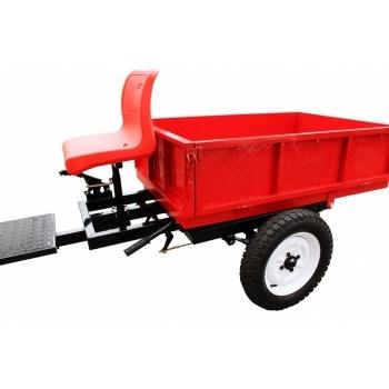 Remorca motocultor, capacitate 500 kg, basculabila, frana mecanica pe tambur O-Mac #5