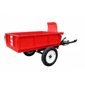 Remorca motocultor, capacitate 500 kg, basculabila, frana mecanica pe tambur O-Mac