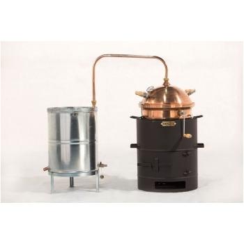 Model Hobby 30L - Cu amestecător - Cu focar pentru combustibil solid, Des - Cazane