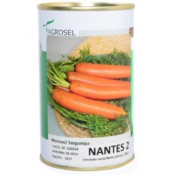 Seminte Morcovi Nantes 2 100 gr Agrosel