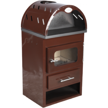 Soba Semineu Emailat Buildxell 1 K EKO E Brown (8 kw), Honest