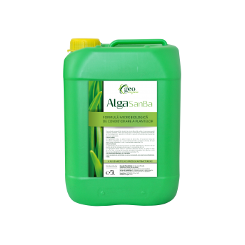 Ingrasamant lichid Bio,  pentru toate culturile, cu aplicare foliara,  Alga SanBa, 5L, Geo Organic