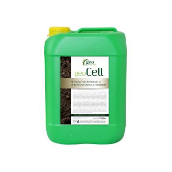 Ingrasamant lichid Bio,  pentru toate culturile, cu aplicare la sol, GeoCell,  5L, Geo Organic