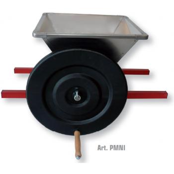 Zdrobitoare de struguri Mini Inox , cuva din inox, productie 400/600 kg/h,  Mantzaris International
