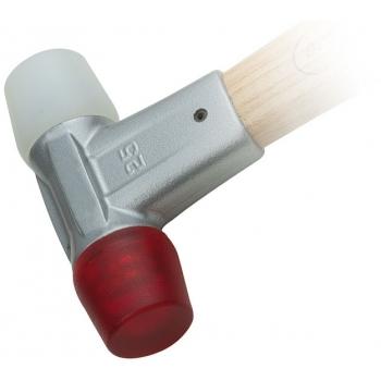 Set 2 capete de schimb pentru ciocan, 30 mm, Acetat, MOB & IUS