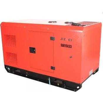 Generator de curent insonorizat Senci, SDE15LS3, trifazic, putere 13.2 kW, diesel, putere motor 19.4 Cp, tensiune 400 V / 230 V, pornire electrica, AVR inclus