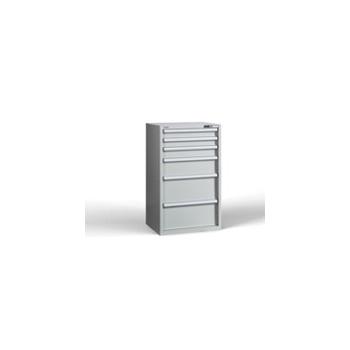 Container C-Fix 1220/730 H6, 6 sertare, blat cauciuc, Metalobox