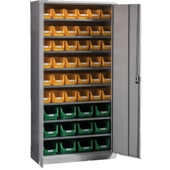 Dulap Expert C 48,  pentru depozitare, cu 48 cutii plastic, Metalobox