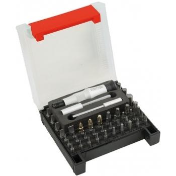 """Trusa Microbit 48 Schroder,  48 bituri de precizie micro, bituri 1/4"""" şi accesorii, MOB & IUS"""