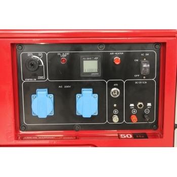 Generator de curent insonorizat Senci, SC7500Q, monofazic, putere 6.0 kW, diesel, putere motor 13 Cp, tensiune 230 V, pornire electrica, AVR inclus #6