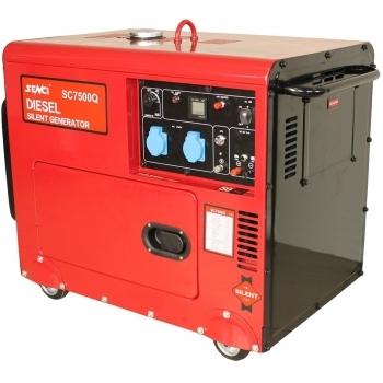 Generator de curent insonorizat Senci, SC7500Q, monofazic, putere 6.0 kW, diesel, putere motor 13 Cp, tensiune 230 V, pornire electrica, AVR inclus